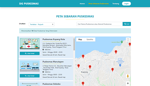 Puskesmas Geographic Information Systems